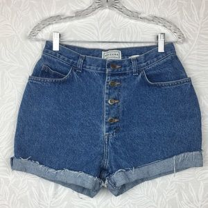 Vintage 90s button fly cut off Mom jean shorts